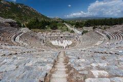 Grekisk teater av Ephesus Royaltyfri Foto
