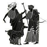 Grekisk teckning för vektor Arkivfoto