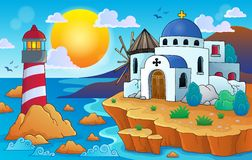 Grekisk temabild 7 Arkivfoton
