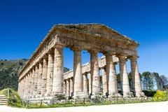 Grekisk tempel av Segesta Arkivfoton