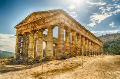 Grekisk tempel av Segesta Arkivbilder