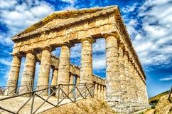 Grekisk tempel av Segesta Arkivfoto