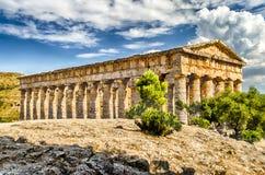 Grekisk tempel av Segesta Fotografering för Bildbyråer
