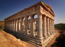 Grekisk tempel av Segesta Royaltyfri Fotografi
