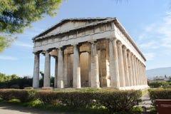 Grekisk tempel i Aten royaltyfria bilder