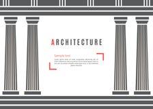 Grekisk tempelbakgrund för arkitektur Arkivfoton