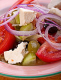 Grekisk vegitarian sallad Arkivfoto