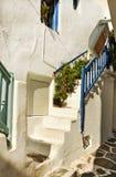 Grekiska ömykonos Fotografering för Bildbyråer