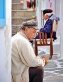 Grekiska byinvånare Royaltyfri Bild