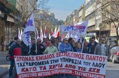 grekiska demonstrationer Fotografering för Bildbyråer