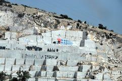 Grekiska flaggagrafitti Arkivbilder