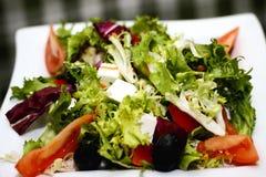 Grekiska gräsplaner för salladtomatost Royaltyfria Bilder