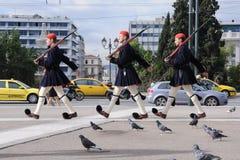 grekiska guards Arkivbilder