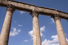 Grekiska kolonner Arkivbilder
