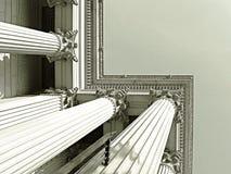 grekiska kolonner Arkivfoto