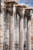 grekiska kolonner Arkivfoton