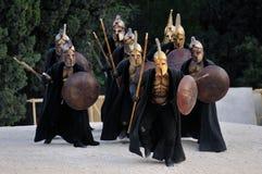 Grekiska krigare Fotografering för Bildbyråer