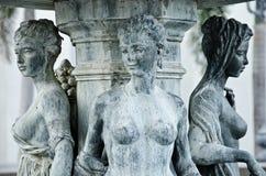grekiska kvinnor för skulptur tre Royaltyfri Fotografi