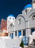 Grekiska kyrkor Fotografering för Bildbyråer