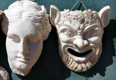 Grekiska maskeringar Arkivbild