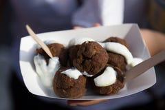 grekiska meatballs Arkivfoton