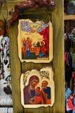 Grekiska ortodoxa symboler Fotografering för Bildbyråer