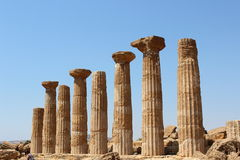 grekiska pelare Arkivfoton