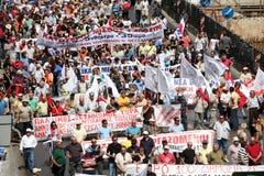Grekiska personer som protesterar Royaltyfria Foton