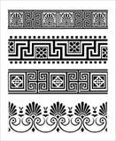 grekiska prydnadar Arkivbilder