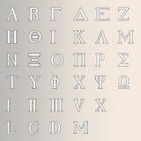 Grekiskt alfabet Fotografering för Bildbyråer