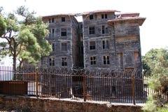 Grekiskt barnhem i Buyukada Turkiet Arkivfoton