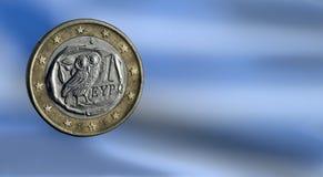 Grekiskt euro Royaltyfri Bild