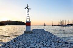 Grekiskt fiskeläge av Parga, Grekland, Europa Royaltyfri Foto