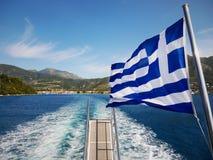 Grekiskt flaggakryssningskepp Arkivfoton