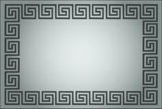 grekiskt grått dekorativt för ram royaltyfri illustrationer