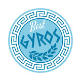Grekiskt gyroskoptecken royaltyfri illustrationer