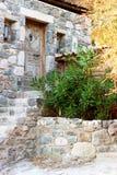 grekiskt hus Arkivfoto
