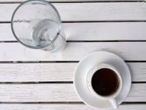 Grekiskt kaffe, Lesvos, Grekland Royaltyfria Bilder