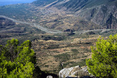 Grekiskt lantligt landskap Royaltyfri Foto