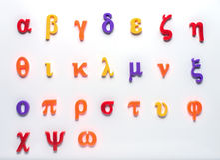 Grekiskt leksakalfabet Royaltyfria Foton