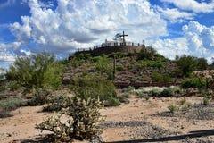 Grekiskt ortodoxt kapell nära Florence Arizona arkivbild