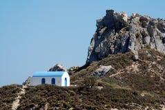 grekiskt romantiskt bröllop för kapell Royaltyfri Bild