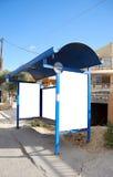 grekiskt stopp för 02 buss Arkivbild