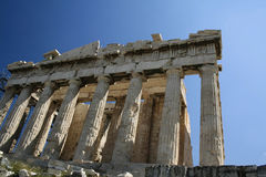 grekiskt tempel Arkivbild