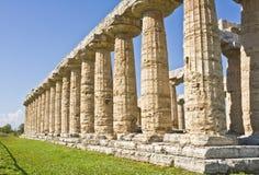 Grekiskt tempel, Paestum Italien Royaltyfri Foto