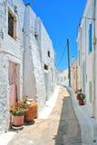 Grekiskt traditionellt hus som lokaliseras på den Kithira ön Royaltyfria Bilder