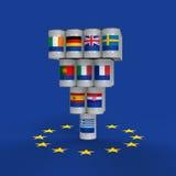 Grekland är risken för Europa vektor illustrationer