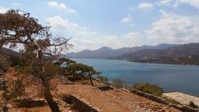 Grekland Ö-fästningen av Spinalonga Fotografering för Bildbyråer