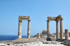 Grekland arkitektur Arkivbild