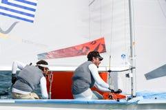 Grekland avslutar 5th på koppen för ISAF-seglingwolden i Miami Arkivfoto